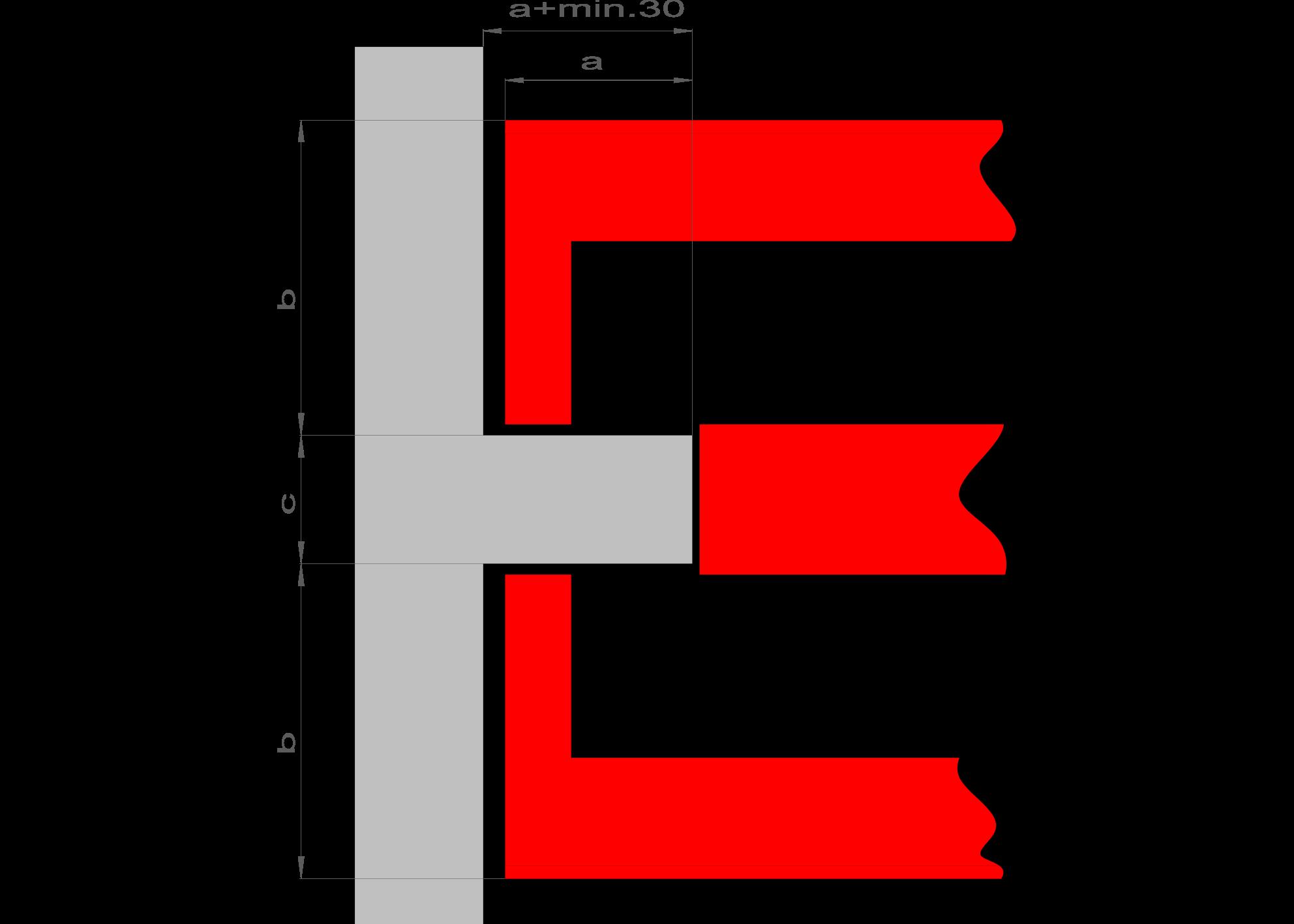 """{""""a"""":""""255 mm"""",""""b"""":""""430 mm"""",""""c"""":""""≥ 175 mm""""}"""