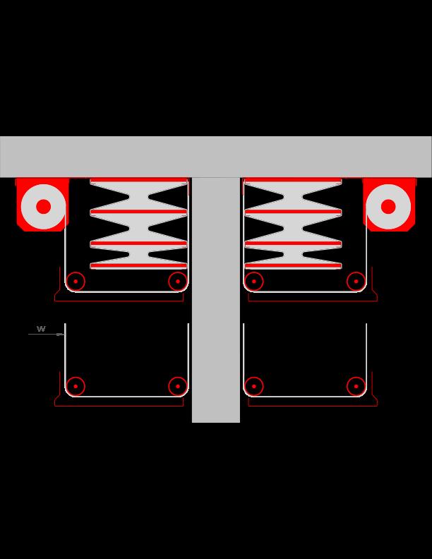 W= Mitlaufender Wandschutz - unsichtbar bei geöffnetem System