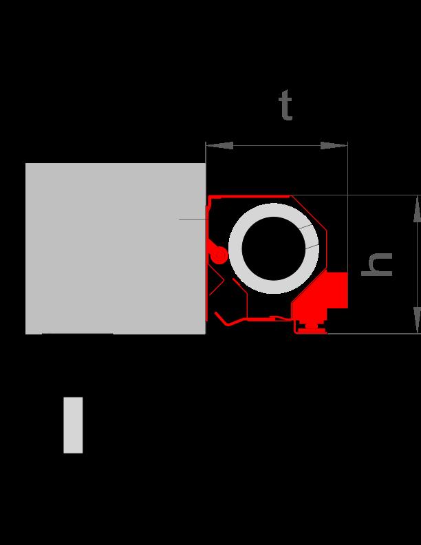t = 135 mm / h = 140 mm