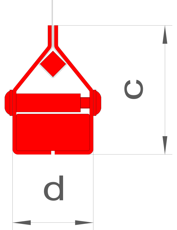 d = 44 mm / c = 70 mm