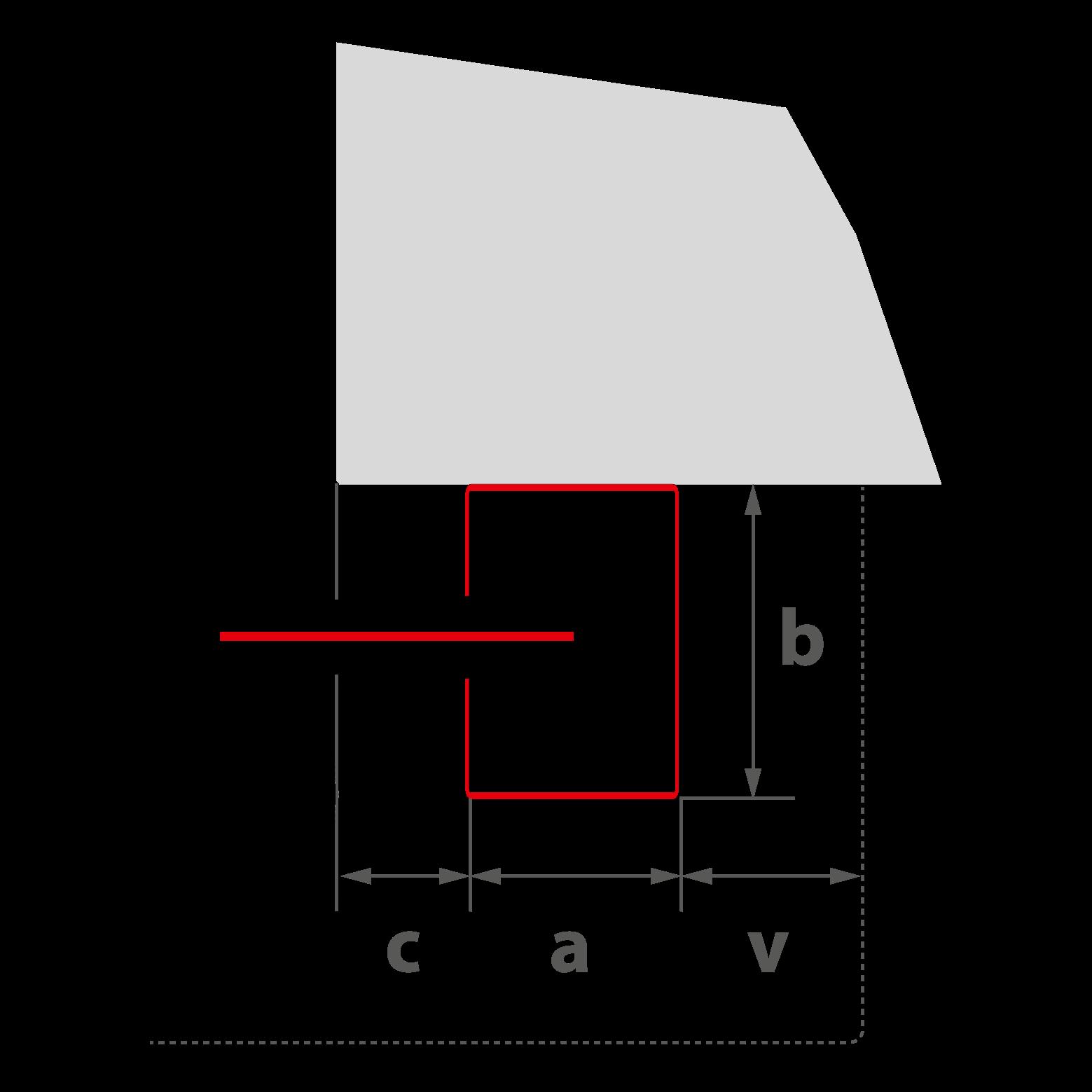 """{""""a"""":""""90 mm"""", """"b"""":""""120 mm"""", """"v"""":""""60 mm"""", """"c1"""":""""0 mm für EI<sub>1,2</sub>30"""", """"c2"""":""""60 mm für EI<sub>2</sub> 60"""", """"G"""":""""Gehäuse""""}"""