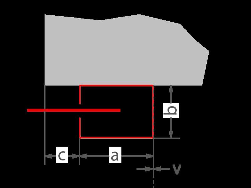 a = 104 mm | b = 74 mm | c ≥ 0 mm | v = 0 mm