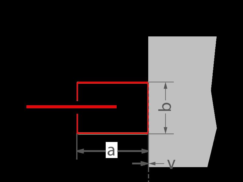 a = 104 mm | b = 74 mm | v = 0 mm