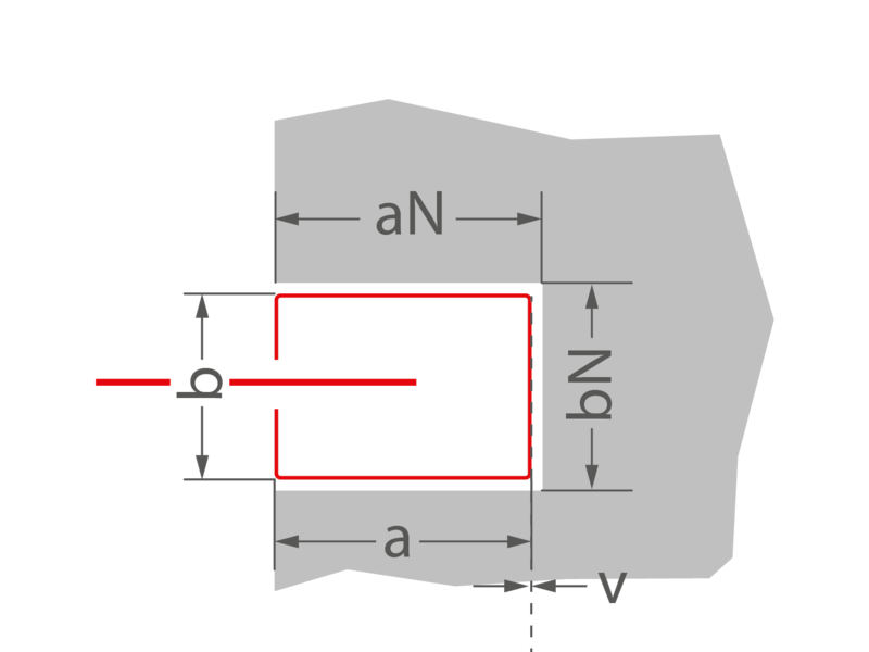 a = 104 mm | aN = 120 mm | b = 74 mm | bN = 100 mm | v = 0 mm